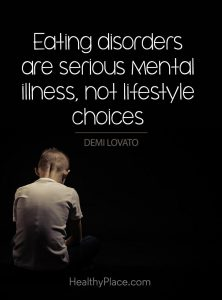 Eating disorders are a serious mental disorder, not a lifestyle choice