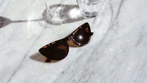 shades on table